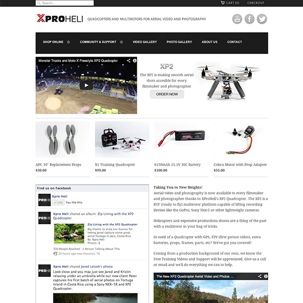 XProHeli.com - video production, brand/web design