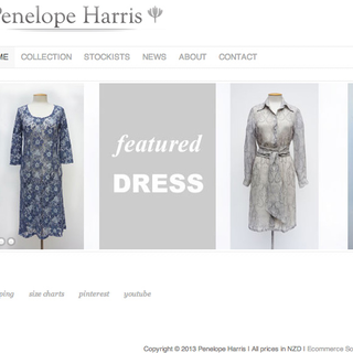 Simple, stylish site as requested by fashion designer