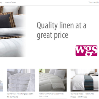 A clean looking site for commercial linen supplies