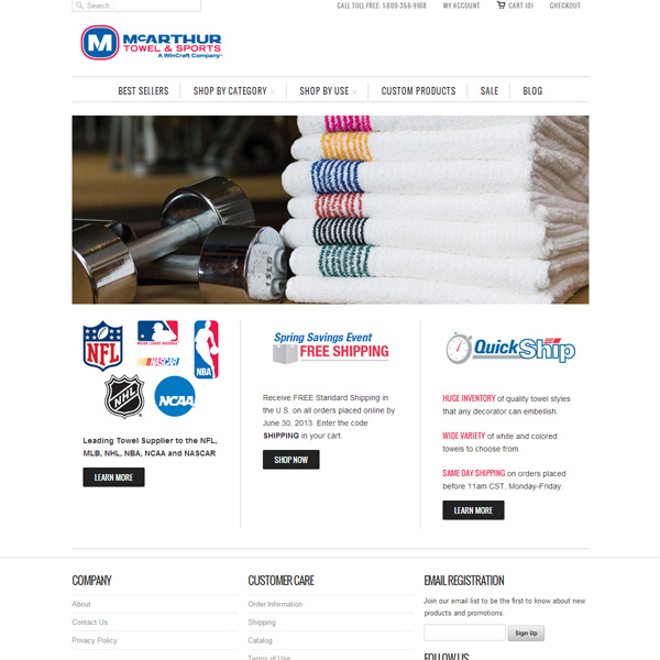Large Towel Manufacturer Site