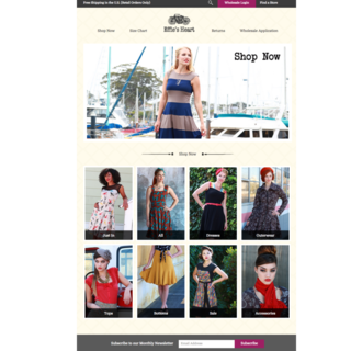 Home page for Retailer