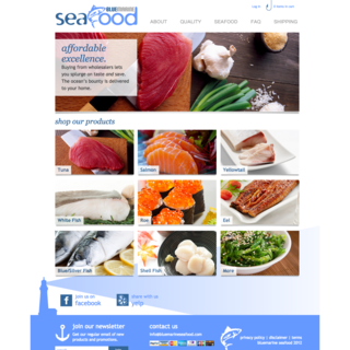 Next Step - Ecommerce Designer / Developer / Photographer / Marketer - Ecommerce Home Page for Seafood Supplier