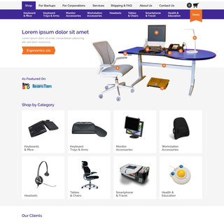 Home page design for Furniture Retailer
