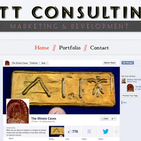 ZTT Consulting Home showing Social Media Management Portfolio item
