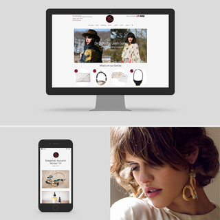 Red Ruby Rouge online Shop Design by Bag of Bees