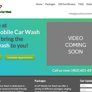 GP Mobile Car Wash home page