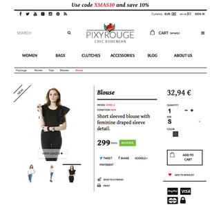 inrg - Ecommerce Designer / Developer - Pixyrouge Online Shop