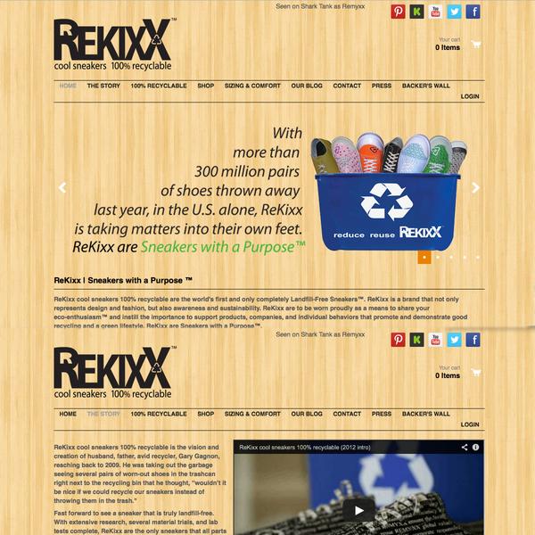 Rekixx %100 Recyclable Shoes as seen on Shark Tank