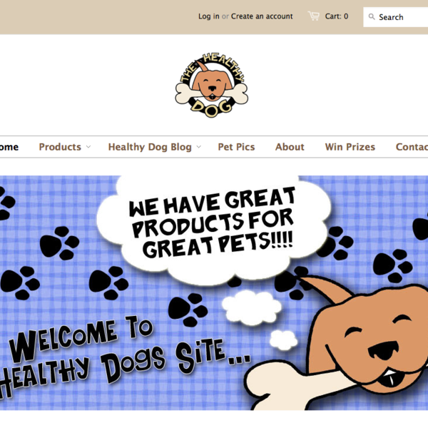 The Healthy Dogs Pet Supply Store