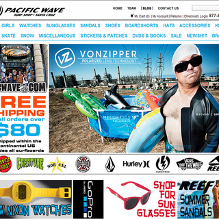 Pacific Wave Surf Shop Homepage