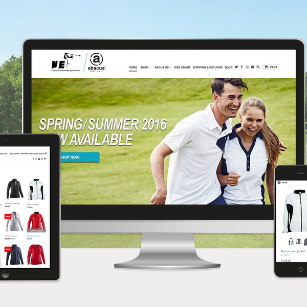 Abacus golf clothing by NJE Golf