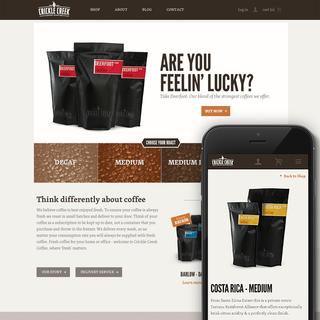 FLIPP Advertising Inc. - Ecommerce Designer / Developer / Photographer / Marketer - cricklecreekcoffee.com | Branding, Packaging and Shopify Site