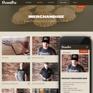 brewsters.ca. | Branding Packaging and Shopify Store for Merch