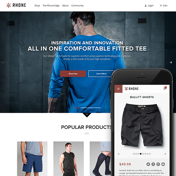 rhoneapparel.com | Responsive Shopify Site Development