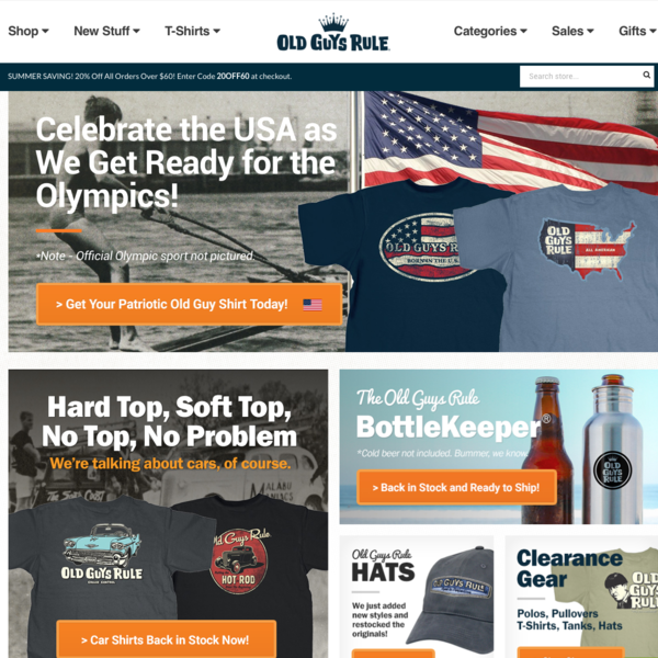 We do the strategy, design, buildout, and operations of OldGuysRule.com