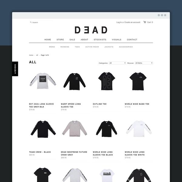 Crisp minimalist style for Dead Studios