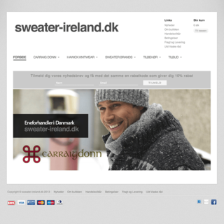 WebMatros - Ecommerce Designer / Photographer / Setup Expert - Sweater-Ireland.dk sells traditional, well crafted Irish sweaters.