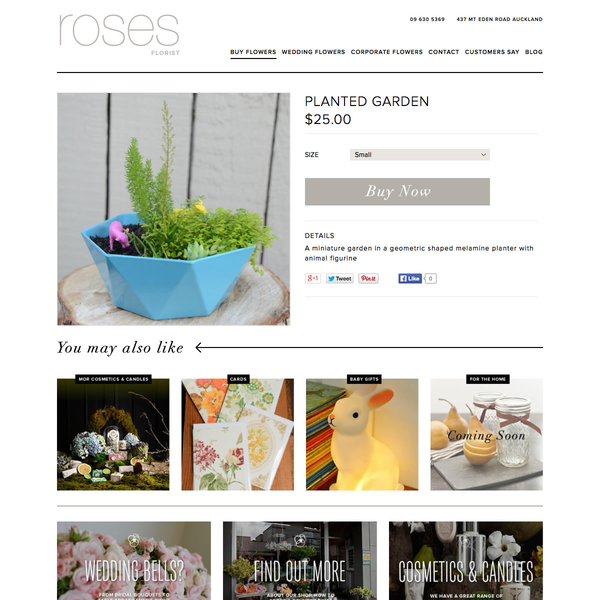 Roses Florist // Product Page