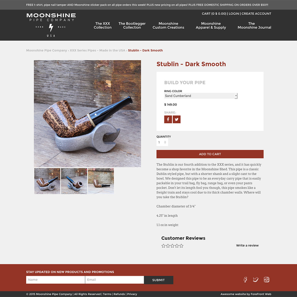 Moonshine Pipes product page