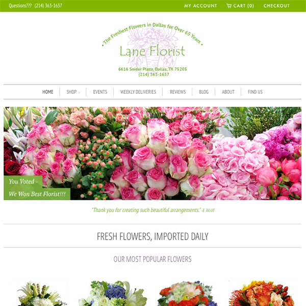 Lane Florist - Award-Winning flower shop located in Dallas, TX