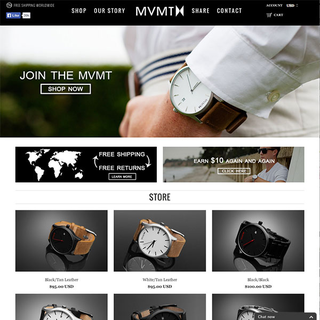 Above Market - Ecommerce Designer / Developer / Photographer / Setup Expert - MVMT Watches - High quality, stylish watches that don't break the bank.