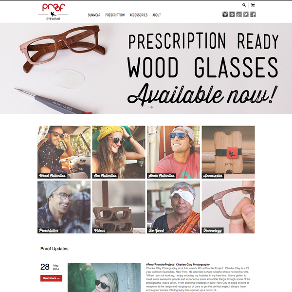 Proof Eyewear - The Original Pioneers of Sustainable Eywear