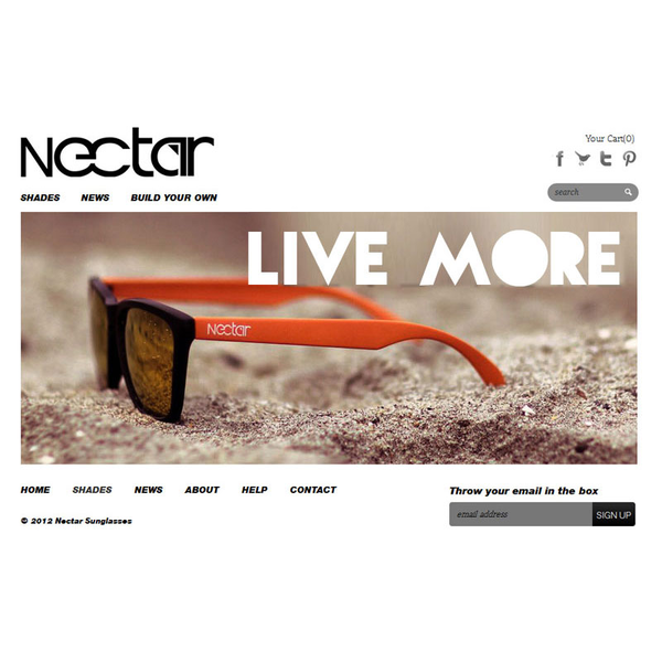 Nectar Sunglasses Custom Sunglass Builder