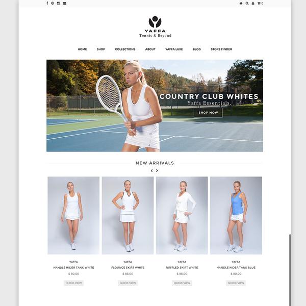 Yaffa Activewear Home Page