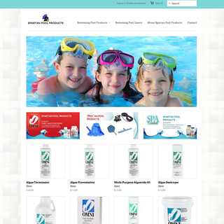 Spartan Pool Products - setup and customization of Shopify store, graphic design (banners & logos)
