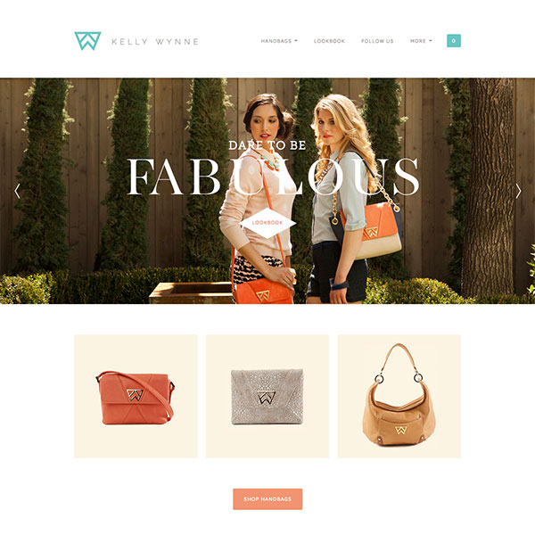 Kelly Wynne Handbags (kellywynne.com) - Custom Theme and Development