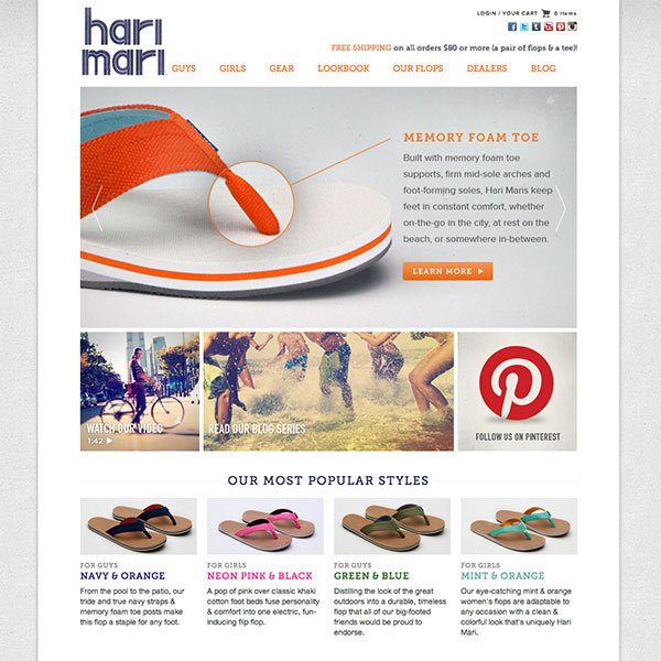 Hari Mari (harimari.com) - Custom Theme and Development