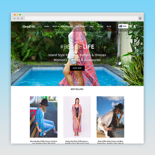Inspired by Island Life Clothing Brand - Website Design & Development