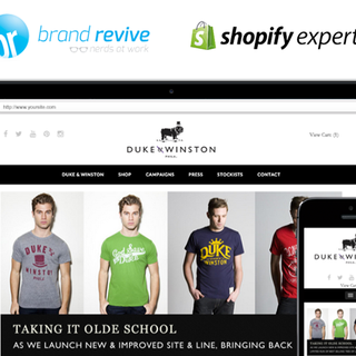 Duke & Winston Shopify Website Design