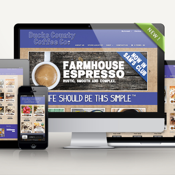 Bucks County Coffee Co Website Design