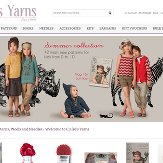 Claire's Yarns - Ecommerce