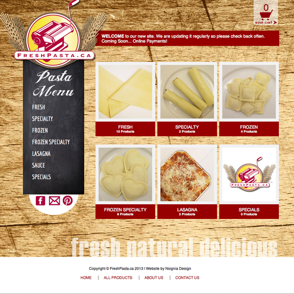 Pasta Shopify Site  by Nsignia Design