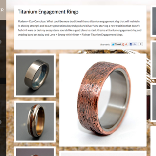 INDUSTRY11 - Ecommerce Designer / Developer / Marketer / Setup Expert - Minter & Richter Designs - Custom Titanium Rings