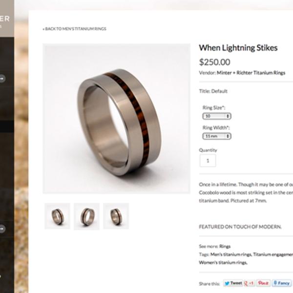 Minter & Richter Designs - Custom Titanium Rings