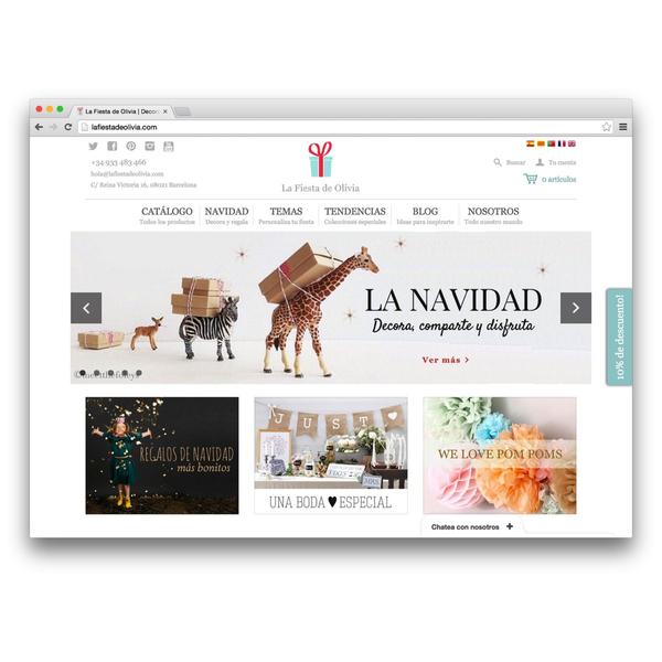 Desarrollo de la tienda online La Fiesta de Olivia