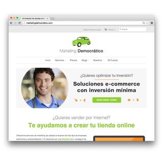 Desarrollo de la tienda online Marketing Democratico