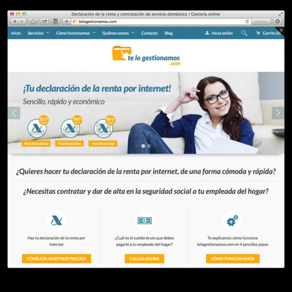 Desarrollo de la identidad corporativa y tienda online de telogestionamos.com