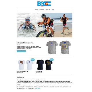 Shopify store I built for the brand-new clothing company B3Fit