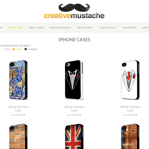 The Creative Mustache - Design you personalized iphone case!
