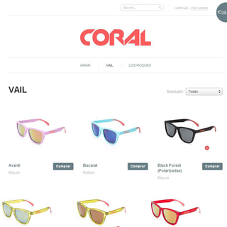 Coral Sunglasses - Personaliza tus gafas de sol, enjoy the sun!