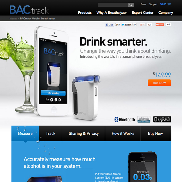 BACtrack.com Product Details Page