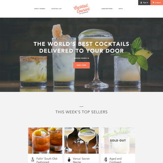 Cocktail Courer – Digital Strategy, Brand, Art Direction, Development, SEO/Mktg