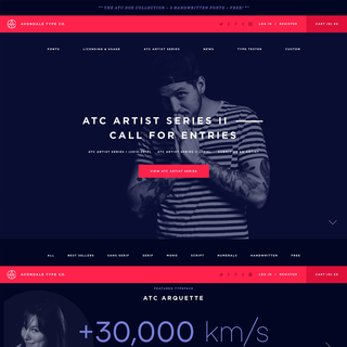 Avondale Type Co. – Digital Strategy, Brand, Art Direction, Development, SEO/Mktg