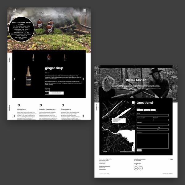 samasama.ch – Kleiner Onlineshop mit eigenem Design
