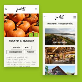 juckerfarm.ch –Corporate Website mit eigenständigem Blog