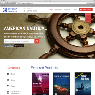 Custom theme to make 10k+ products more searchable/browsable. http://www.amnautical.com